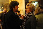 TREVOR NUNN; JENNIFER SAUNDERS, Party following the Theatre Royal press night performance of The Lion in Winter , The Institute of Directors. London. 15 November 2011. <br /> <br />  , -DO NOT ARCHIVE-© Copyright Photograph by Dafydd Jones. 248 Clapham Rd. London SW9 0PZ. Tel 0207 820 0771. www.dafjones.com.