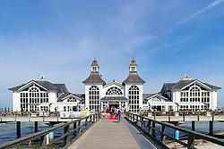 View of Pier at Sellin resort on  Rugen Island , Mecklenburg-Vorpommern Germany