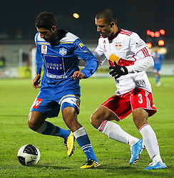 04.12.2011, Stadion, Wiener Neustadt, AUT, 1. FBL, SC Wiener Neustadt vs RB Salzburg, im Bild Douglas da Silva, (Red Bull Salzburg, #3)  vs Serkan Ciftci, (SC Magna Wiener Neustadt, #21) during the Austrian Bundesliga Match, SC Wiener Neustadt against RB Salzburg, Stadium, Wiener Neustadt near Vienna, Austria on 2011-12-04, EXPA Pictures © 2011, PhotoCredit: EXPA/ S. Woldron