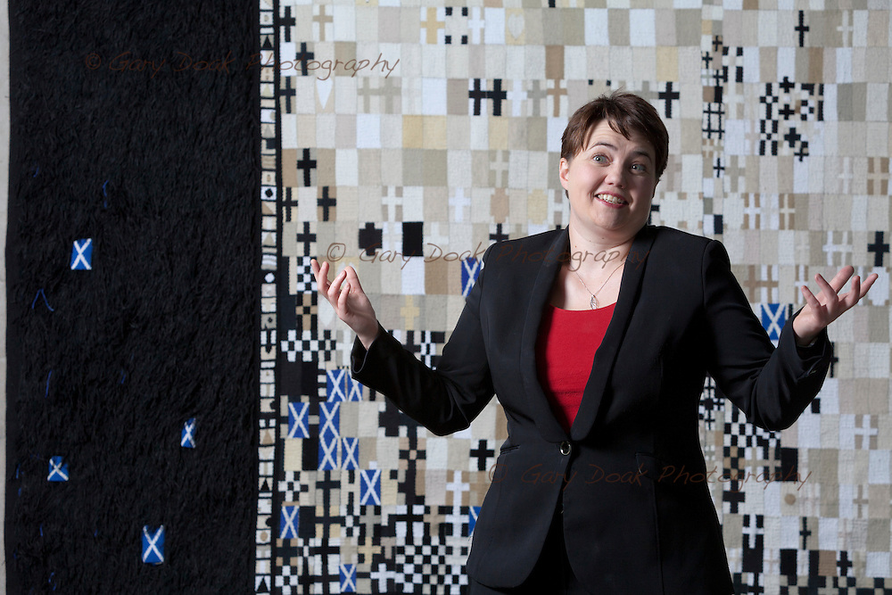 Ruth Davidson, MSP. Leader, Scottish Conservative and Unionist Party.<br /> <br /> Scottish Parliament, Holyrood,<br /> Edinburgh, Scotland. 30th September 2015 <br /> <br /> Photograph by Gary Doak