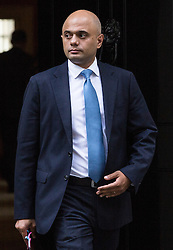 © Licensed to London News Pictures. 15/09/2015. London, UK. Secretary of State for Business, Innovation and Skills Sajid Javid leaving Number 10 Downing Street.  Photo credit : James Gourley/LNP