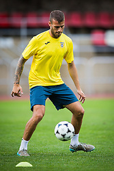 Miha Blazic of NK Domzale during practice session before football match between NK Domzale and FC Lusitanos Andorra in second leg of UEFA Europa league qualifications on July 6, 2016 in Andorra la Vella, Andorra. Photo by Ziga Zupan / Sportida