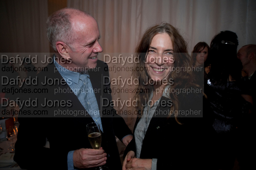 ALISON JACQUES; MARK HOLBORN, Robert Mapplethorpe's A Season in Hell. Alison Jacques Gallery and afterwards at the Sanderson Hotel. Berners St. London. 13 October 2009. *** Local Caption *** -DO NOT ARCHIVE-© Copyright Photograph by Dafydd Jones. 248 Clapham Rd. London SW9 0PZ. Tel 0207 820 0771. www.dafjones.com.<br /> ALISON JACQUES; MARK HOLBORN, Robert Mapplethorpe's A Season in Hell. Alison Jacques Gallery and afterwards at the Sanderson Hotel. Berners St. London. 13 October 2009.