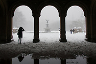 Bethesda Fountain after a snow storm