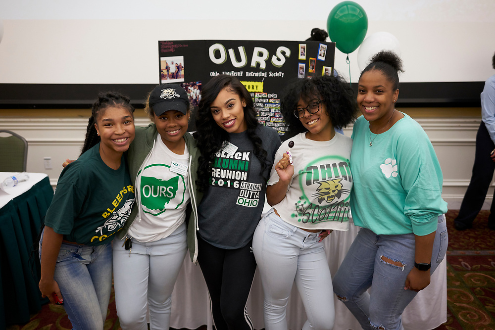 Mariah Thomson, Vice President of Ohio University Recruiting poses with her fellow officers.