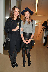 Left to right, FRAN HICKMAN and CAROLINE LEVER at an evening of Fashion, Art & design hosted by Ralph Lauren and Phillips at the new Phillips Gallery, 50 Berkeley Square, London on 22nd October 2014.