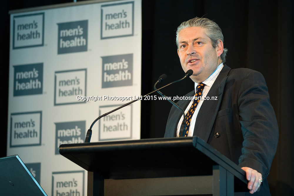 Men`s Health Week Breakfast, Museum Dome, Auckland, New Zealand, Monday, June 08, 2015. Copyright photo: David Rowland / www.photosport.co.nz