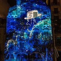 Video Mapping at Casa Batllo. Festes de la Merce 2015. Barcelona