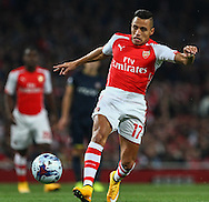 Alexis Sanchez of Arsenal during the Capital One Cup match at the Emirates Stadium, London<br /> Picture by David Horn/Focus Images Ltd +44 7545 970036<br /> 23/09/2014