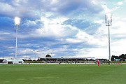 General view of the pavilion at Bay Oval during the Burger King Super Smash Twenty20 cricket match Knights v Stags played at Bay Oval, Mount Maunganui, New Zealand on Wednesday 27 December 2017.<br /> <br /> Copyright photo: &copy; Bruce Lim / www.photosport.nz