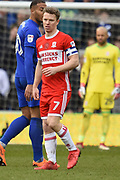 Middlesbrough midfielder Grant Leadbitter (7) during the EFL Sky Bet Championship match between Cardiff City and Middlesbrough at the Cardiff City Stadium, Cardiff, Wales on 17 February 2018. Picture by Alan Franklin.