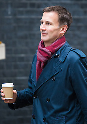 Downing Street, London, November 3rd 2015.  Health Secretary Jeremy Hunt arrives at 10 Downing Street to attend the weekly cabinet meeting. /// Licencing: Paul@pauldaveycreative.co.uk Tel:07966016296 or 020 8969 6875