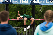 oSt. Johnsbury's Lance Abella competes in the boys high jump during the division I high school track and field state championships at Burlington High School on Saturday June 3, 2017 in Burlington. (BRIAN JENKINS/for the FREE PRESS)
