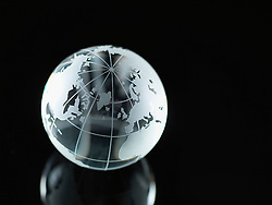 Glass Globe illustrating North America, Europe, Russia and Africa (Credit Image: © Image Source/ZUMAPRESS.com)