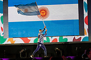 2018 Buenos Aires Youth Olympic Games. <br /> <br /> Five sailing events with 100 sailors from 44 different nations are taking place at Club Náutico San Isidro, Argentine including Girl's and Boy's Kiteboarding (Twin Tip Racing) and the Mixed Multihull (Nacra 15). Elsewhere, Girl's and Boy's Windsurfing (Techno 293+) are returning for its third consecutive Games from 6 to 18 October 2018. Opening Ceremony<br /> © Matias Capizzano / World Sailing