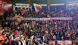 DELIJE, supporters of Crvena Zvezda during basketball match between KK Crvena Zvezda mts Belgrade (SRB) and Olympiacos Piraeus (GRE) in Round #20 of Euroleague 2017/18, on January 26, 2018 in Arena Aleksandar Nikolic, Belgrade, Serbia. Photo by Nebojsa Parausic / Sportida