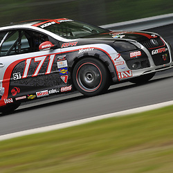 May 23, 2009; Lakeville, CT, USA; The APR Motorsport Volkswagen GTI driven by Ian Baas and Josh Hurley races during the Grand-Am Koni Sports Car Challenge series competition during the Memorial Day Road Racing Classic weekend at Lime Rock Park.