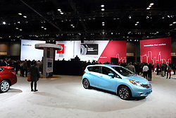 12 February 2015:   Nissan give a press conference for all the media present. <br /> <br /> First staged in 1901, the Chicago Auto Show is the largest auto show in North America and has been held more times than any other auto exposition on the continent. The 2015 show marks the 107th edition of the Chicago Auto Show. It has been  presented by the Chicago Automobile Trade Association (CATA) since 1935.  It is held at McCormick Place, Chicago Illinois