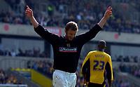 Photo: Alan Crowhurst.<br />Oxford United v Northampton Town. Coca Cola League 2. 22/04/2006. Martin Smith celebrates his goal for Northampton.