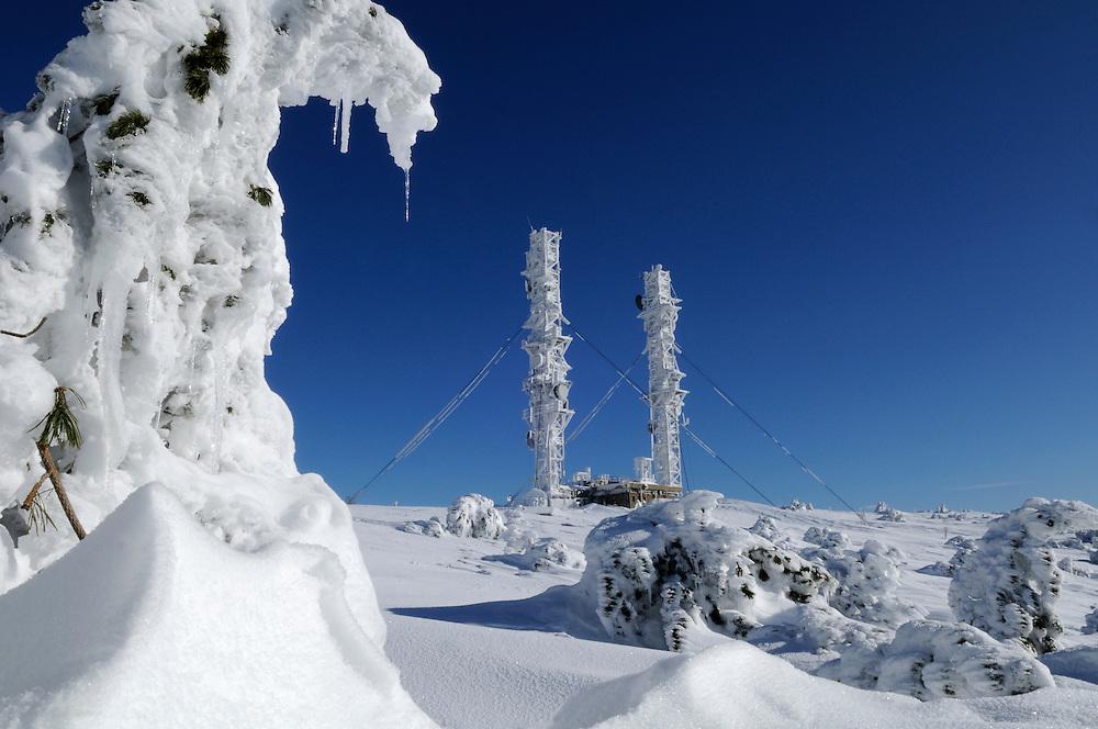 France, Languedoc Roussillon, Gard, Lozère, Cévennes, Mont Aigoual, les antennes de transmission