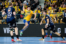 David Razgor of RK Celje Pivovarna Lasko during handball match between RK Celje Pivovarna Lasko (SLO) and of MOL Pick Szeged (HUN) in 9th Round of EHF Champions League 2019/20, on November 24, 2019 in Arena Zlatorog, Celje, Slovenia. Photo Grega Valancic / Sportida