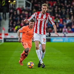 Stoke City forward Peter Crouch (25) during the Premier League match between Stoke City and Liverpool<br /> (c) John Baguley | SportPix.org.uk