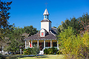Church at Vermilionville living history museum of Acadian (Cajun), Creole and Native American culture, Louisiana USA