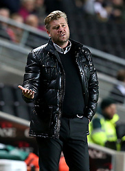 Milton Keynes Dons manager Karl Robinson looks frustrated during the 3-3 draw with Bristol Rovers - Mandatory by-line: Robbie Stephenson/JMP - 18/10/2016 - FOOTBALL - Stadium MK - Milton Keynes, England - Milton Keynes Dons v Bristol Rovers - Sky Bet League One