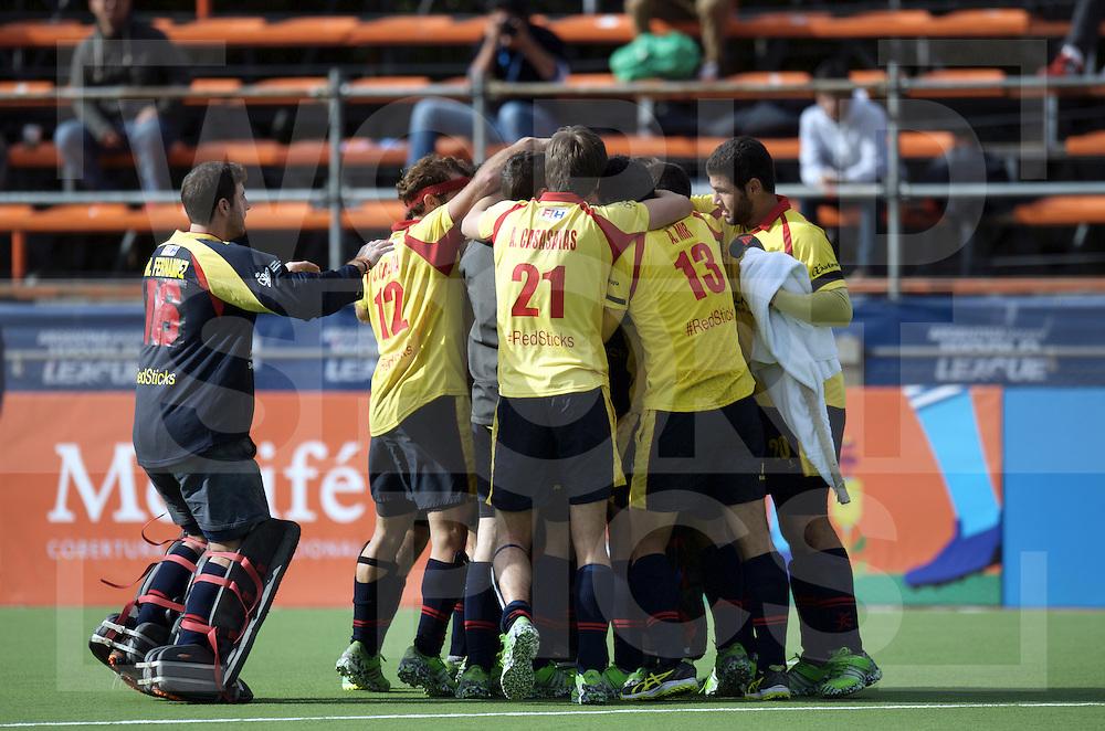 BUENOS AIRES - Hock World League Semi Final Men<br /> 26 ESP v KOR (5th - 8th)<br /> foto: Spain wins the shoot out.<br /> FFU PRESS AGENCY COPYRIGHT FRANK UIJLENBROEK