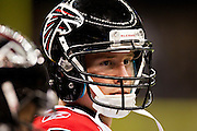NEW ORLEANS, LA - DECEMBER 26:   Matt Ryan #2 of the Atlanta Falcons on the sidelines during a game against the New Orleans Saints at Mercedes-Benz Superdome on December 26, 2011 in New Orleans, Louisiana.  The Saints defeated the Falcons 45-16.  (Photo by Wesley Hitt/Getty Images) *** Local Caption *** Matt Ryan