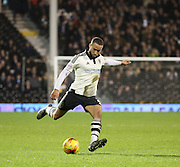 Fulham defender Ashley (Jazz) Richards passing the ball during the Sky Bet Championship match between Fulham and Ipswich Town at Craven Cottage, London, England on 15 December 2015. Photo by Matthew Redman.