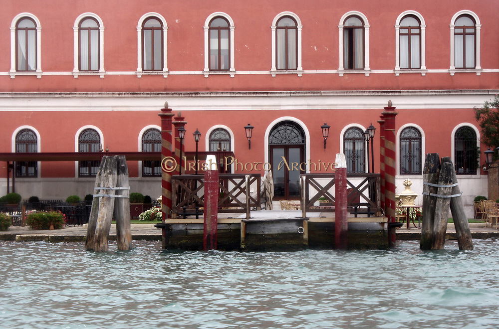 Docking Pier Outside Red Building Venice 2013.