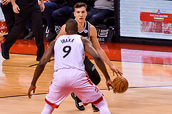 January 22, 2019 - Toronto, Ontario, Canada - Bogdan Bogdanovic #8 of the Sacramento Kings against Serge Ibaka #9 of the Toronto Raptors during the Toronto Raptors vs Sacramento Kings  NBA regular season game at Scotiabank Arena on January 22, 2018 in Toronto, Canada (Toronto Raptors win 120-105) (Credit Image: © Anatoliy Cherkasov/NurPhoto via ZUMA Press)