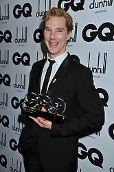 Actor of The Year BENEDICT CUMBERBATCH at the GQ Men of the Year 2011 Awards dinner held at The Royal Opera House, Covent Garden, London on 6th September 2011.