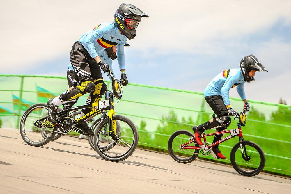 2018 UCI World Championships<br /> Baku, Azerbaijan<br /> 14 Boys #72 (MELIS Jools) BEL Meybo Zulu<br /> 14 Girls #33 (GOMMERS Aiko) BEL Daylight<br /> 14 Boys #74 (WILLEMS Thomas) BEL