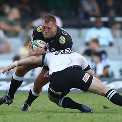 DURBAN, SOUTH AFRICA - MARCH 10: Ross Geldenhuys of the Cell C Sharks during the Super Rugby match between Cell C Sharks and Sunwolves at Jonsson Kings Park Stadium on March 10, 2018 in Durban, South Africa. (Photo by Steve Haag/Gallo Images)