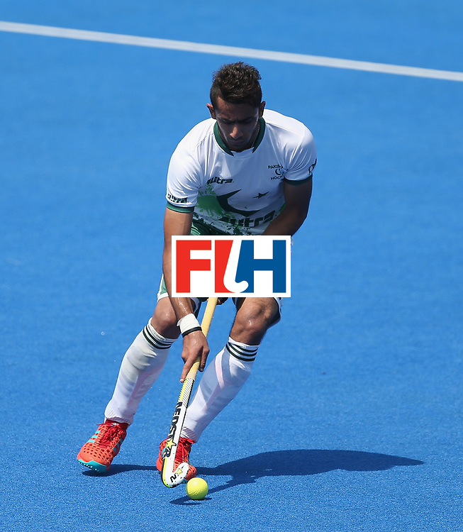 LONDON, ENGLAND - JUNE 19:  Ammad Shakeel of Pakistan during the Hero Hockey World League Semi-Final match between Scotland and Pakistan at Lee Valley Hockey and Tennis Centre on June 19, 2017 in London, England.  (Photo by Alex Morton/Getty Images)