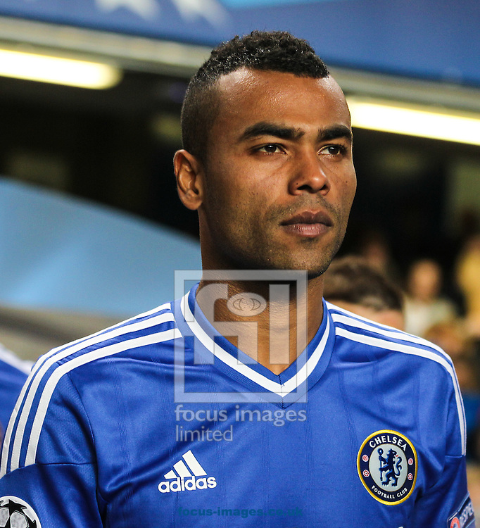 Picture by David Horn/Focus Images Ltd +44 7545 970036<br /> 18/09/2013<br /> Ashley Cole of Chelsea before the UEFA Champions League match at Stamford Bridge, London.