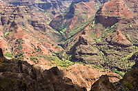 Looking down into Waimea Canyon, Kauai, Hawaii, USA.