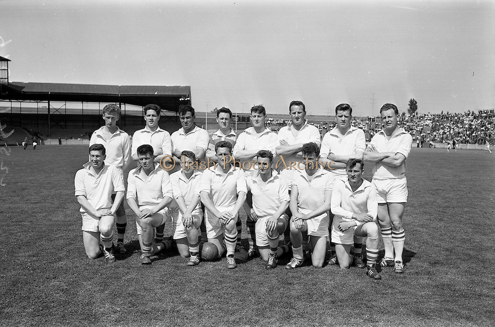 09/06/1963<br /> 06/09/1963<br /> 09 June 1963<br /> Kildare v Louth, Leinster Football quarter final at Croke park, Dublin. The Kildare team.