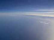 View from international airliner over Atlantic Ocean