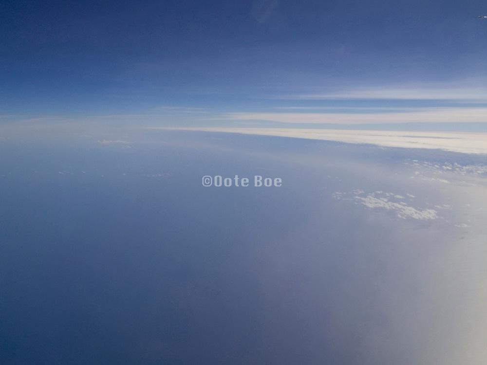 View from international airliner over Atlantic Ocean