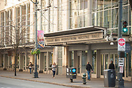 2017 DECEMBER 12 - Illsley Ball Nordstrom Recital Hall entrance to Benaroya Hall on 3rd Ave, in downtown Seattle, WA, USA. By Richard Walker