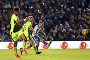 Brighton & Hove Albion winger Anthony Knockaert (11) scores a goal 3-0 during the EFL Sky Bet Championship match between Brighton and Hove Albion and Reading at the American Express Community Stadium, Brighton and Hove, England on 25 February 2017.