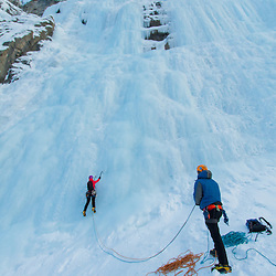 Ice Climbing Weeping Wall