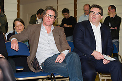 © Licensed to London News Pictures. 17/05/2012. London, UK.  Actor Hugh Grant (left) and Labour MP Tom Watson attend a rally for media reform organised by Hacked Off and the Co-ordinating Centre for Media Reform at Central Hall, Westminster, London on May 17, 2012. Photo credit : Ben Cawthra/LNP
