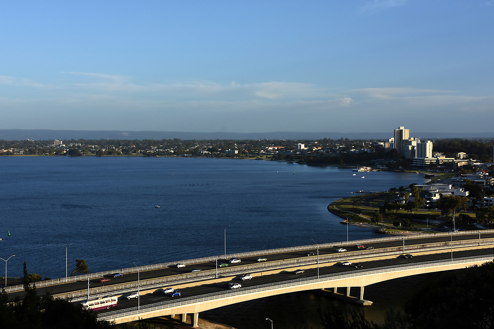 South Perth as seen from the Kings park high viewpoint