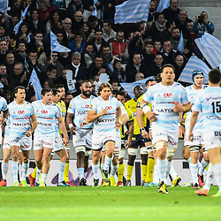 Leone Nakarawa and Team of Racing 92 celebrates the first try during the Top 14 match between Racing 92 and Clermont Auvergne at Stade Pierre-Mauroy on March 25, 2017 in Lille, France. (Photo by Anthony Dibon/Icon Sport)