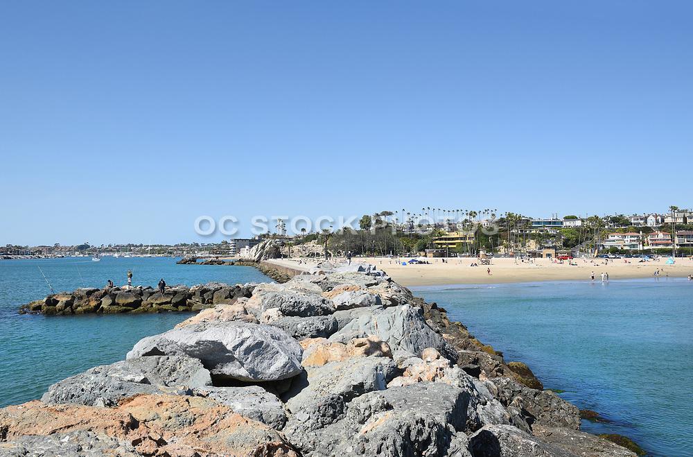 The Jetty at Corona del Mar State Beach
