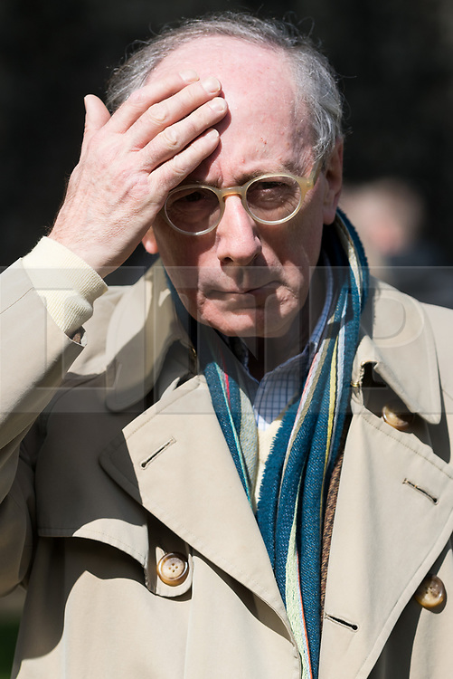 © Licensed to London News Pictures.18/04/2017.London, UK. Former Conservative Defence Secretary SIR MALCOM RIFKIND is interviewed by the media in Westminister after British Prime Minister Theresa May declared a general election for June 8th on 18, April 2017.Photo credit: Ray Tang/LNP
